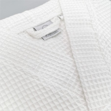 honeycomb bathrobe polycotton