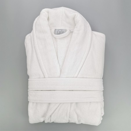 Luxury cotton bathrobe terry and velvet standard size L unisex
