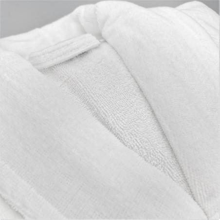 Peignoir coton velours col chale