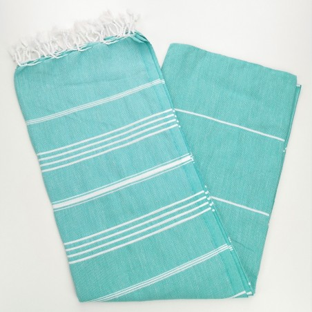 medium spring green flat sultan peshtemal towel