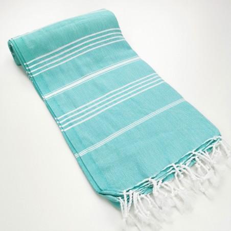 Turkish peshtemal towel medium spring green