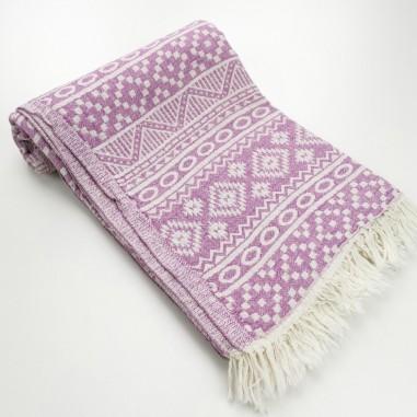 aztec style pattern towel amethyst