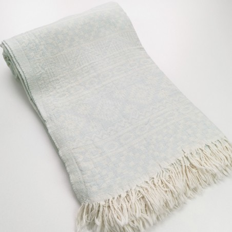 aztec style pattern towel mint