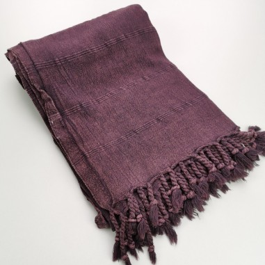 Turkish towel stonewashed fine stitched stripes burgundy