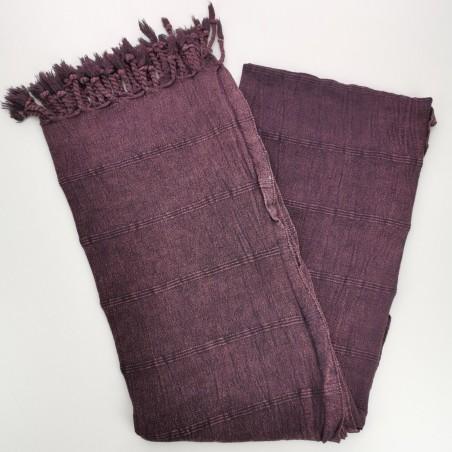 stonewashed turkish peshtemal towel burgundy micro