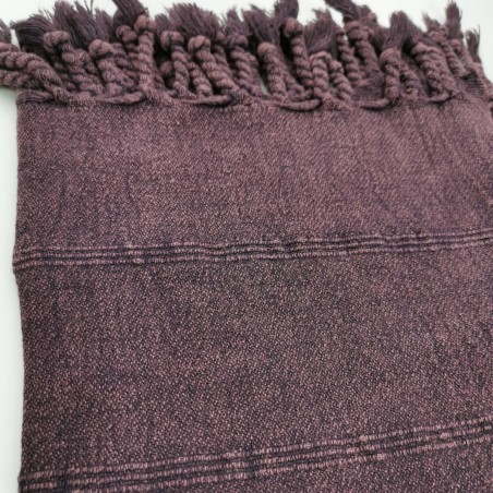 stonewashed turkish towel burgundy micro