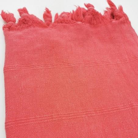 stonewashed turkish towel coral micro
