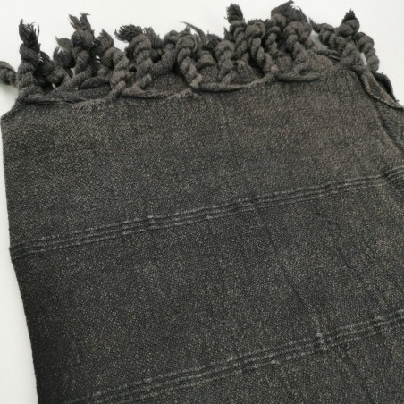 stonewashed turkish peshtemal towel black micro