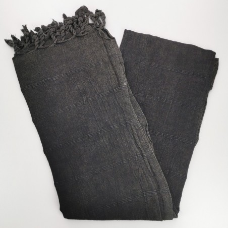stonewashed turkish towel black micro