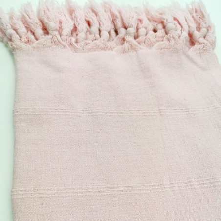 stonewashed turkish peshtemal towel pale pink micro