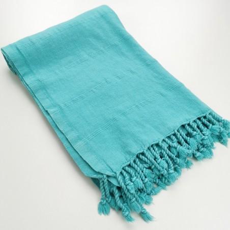 Turkish towel stonewashed fine stitched stripes mint