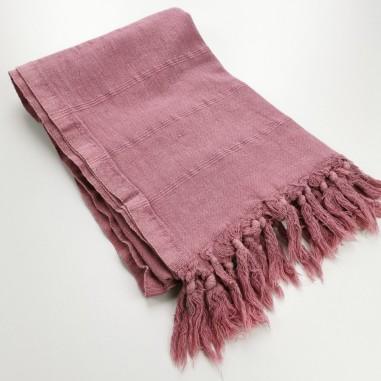 fouta stonewashed violet rose micro