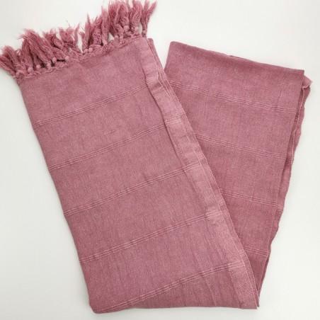 stonewashed turkish towel pink purple micro