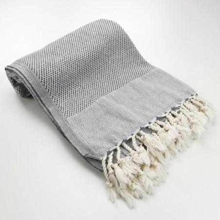 Honeycomb Turkish towel grey