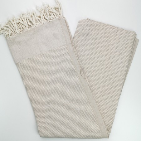 honeycomb turkish towel beige