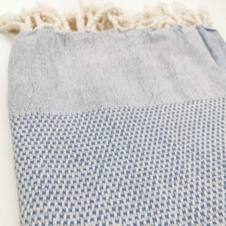 honeycomb turkish towel cornflower blue