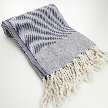 Honeycomb Turkish towel navy