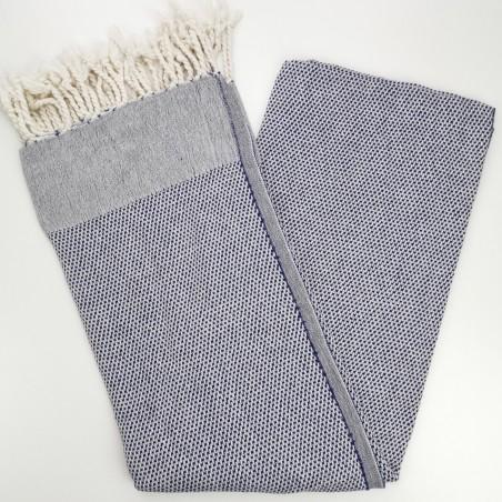 honeycomb turkish towel navy blue