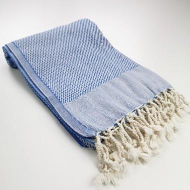 Honeycomb Turkish towel royal blue