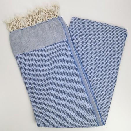honeycomb turkish peshtemal towel royal blue