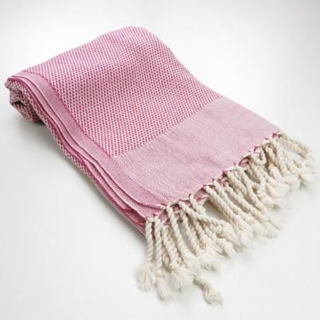 Honeycomb peshtemal towel fuchsia