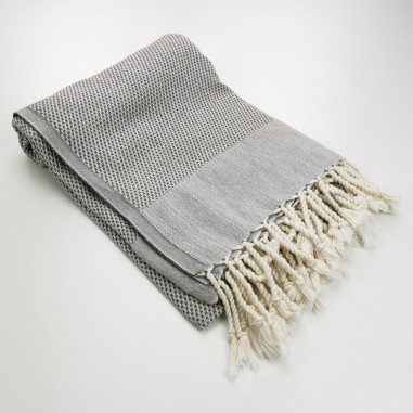 Honeycomb peshtemal towel taupe brown