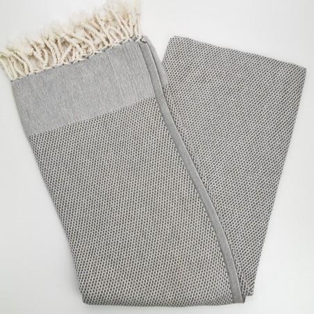 honeycomb turkish peshtemal towel brown