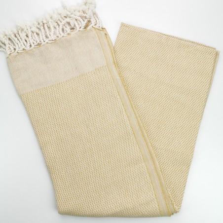 honeycomb turkish peshtemal towel mustard