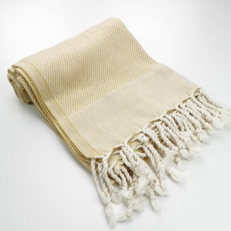 Honeycomb peshtemal towel mustard