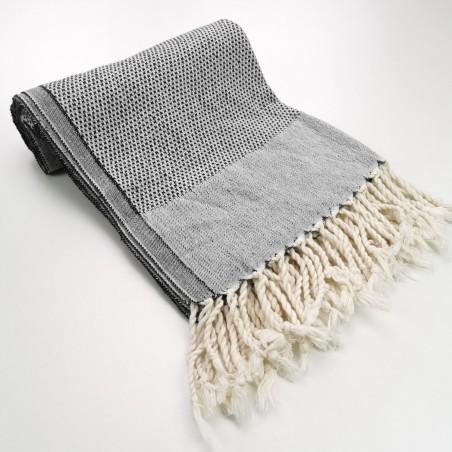 Honeycomb peshtamal towel black