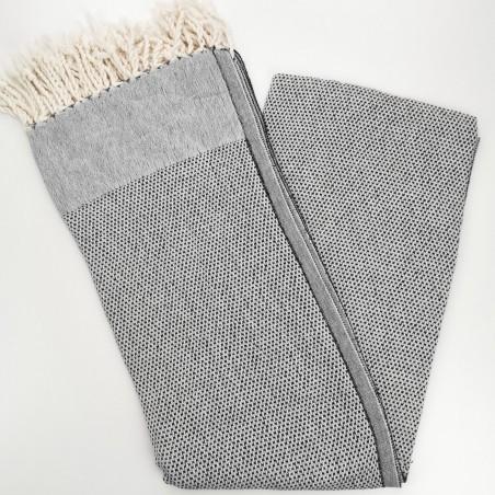 honeycomb turkish peshtemal towel black
