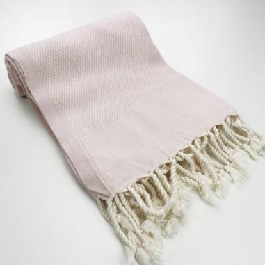 Honeycomb peshtamal towel pastel pink