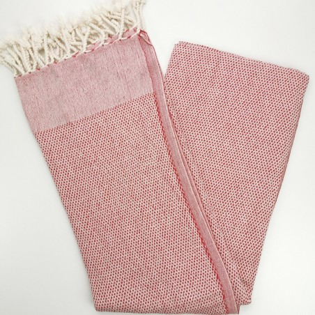 honeycomb turkish peshtemal towel red