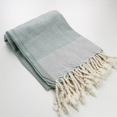 Honeycomb peshtamal towel vert mer