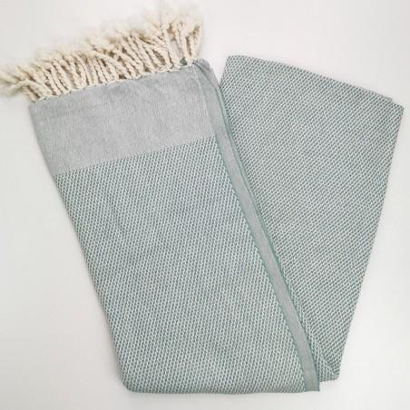 honeycomb turkish peshtemal towel dark sea green