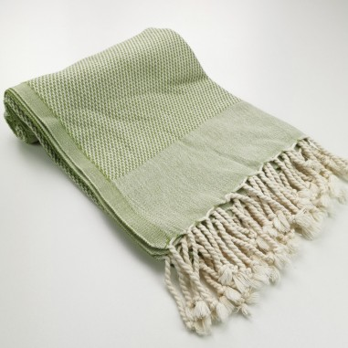 Honeycomb peshtamal towel olive green
