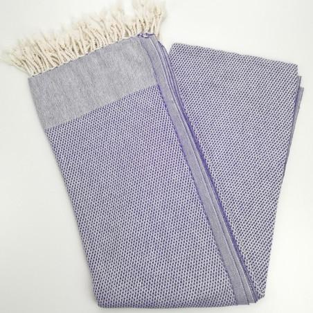 honeycomb turkish peshtemal towel indigo