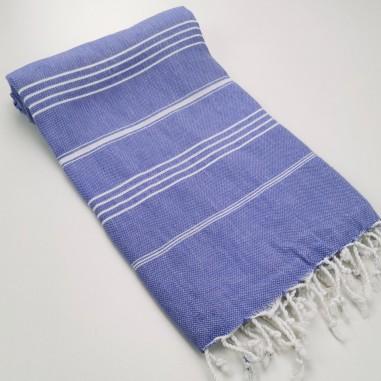 Turkish peshtemal towel blue purple