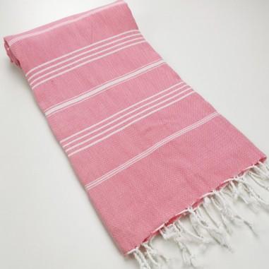 Turkish peshtemal towel pink