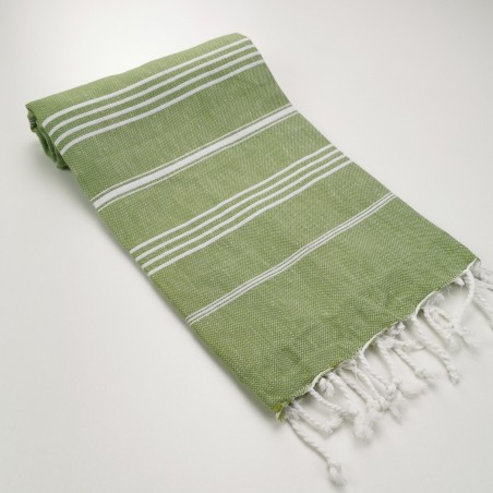 Turkish peshtemal towel olive green