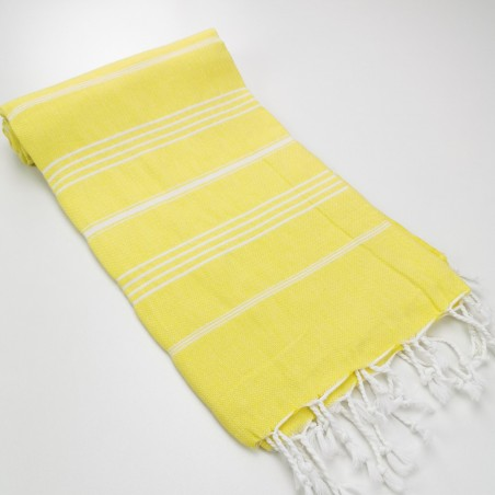 Turkish peshtemal towel chick yellow