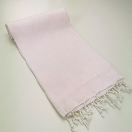 Turkish peshtemal towel pale pink