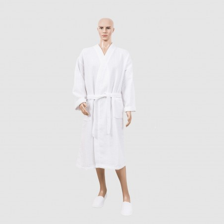 honeycomb bathrobe for hotel and spa