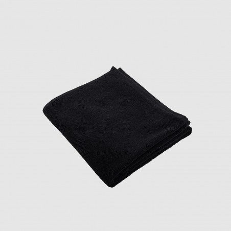 Hair towel black indanthren dyed