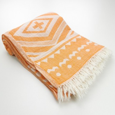 Jacquard Turkish towel Tribal kilim