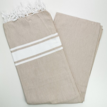Fouta towel classic Sea ecru beige
