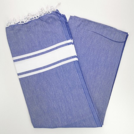 Fouta towel classic Sea blue purple
