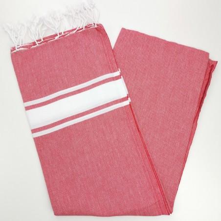 Fouta towel classic Sea cherry red
