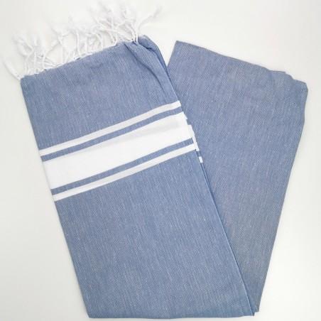 Fouta towel classic Sea cornflower blue