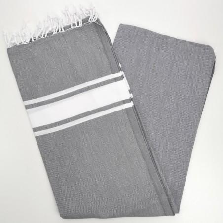 Fouta towel classic Sea dark grey